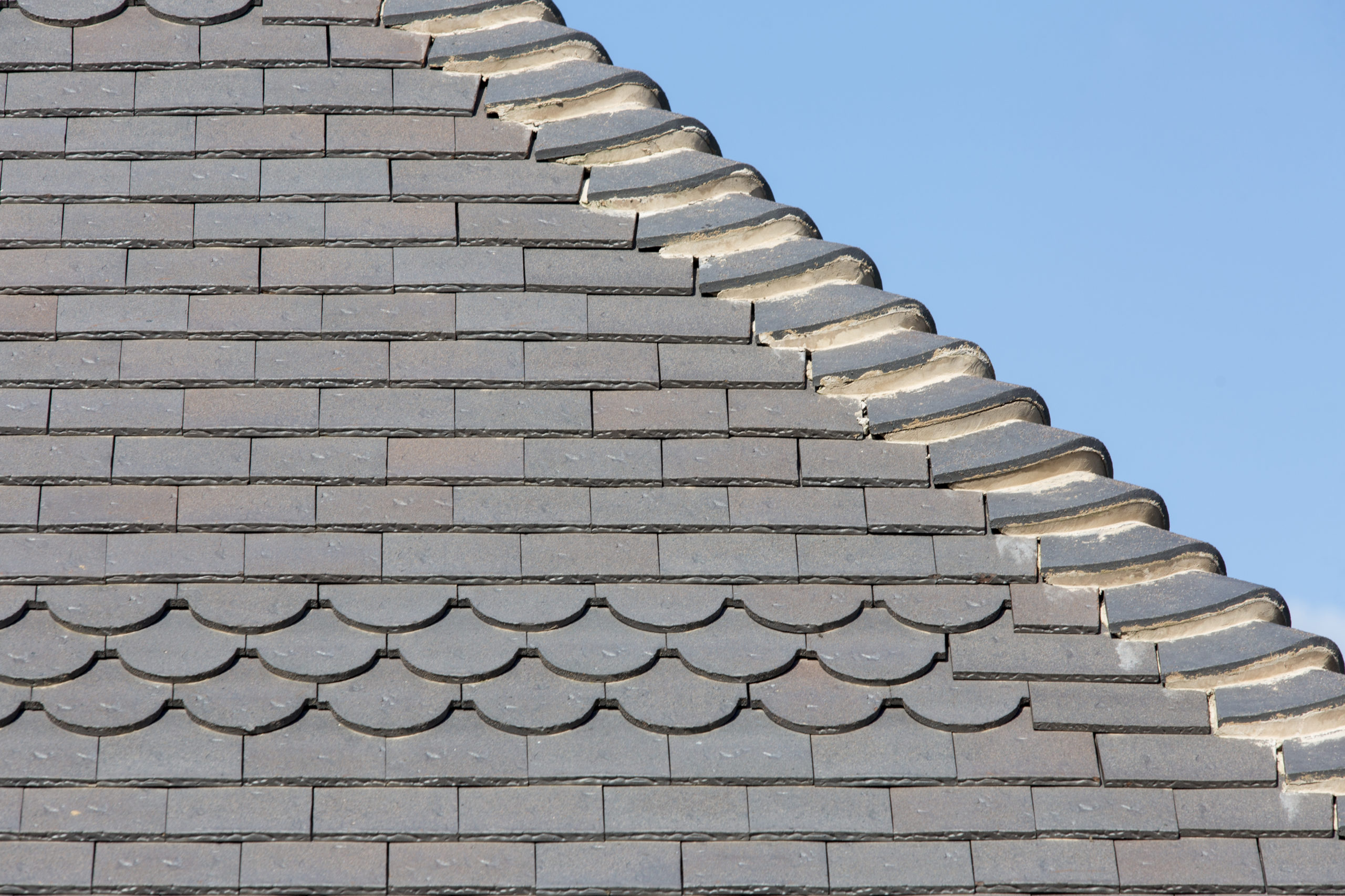 Staffs blue rustic roof tiles