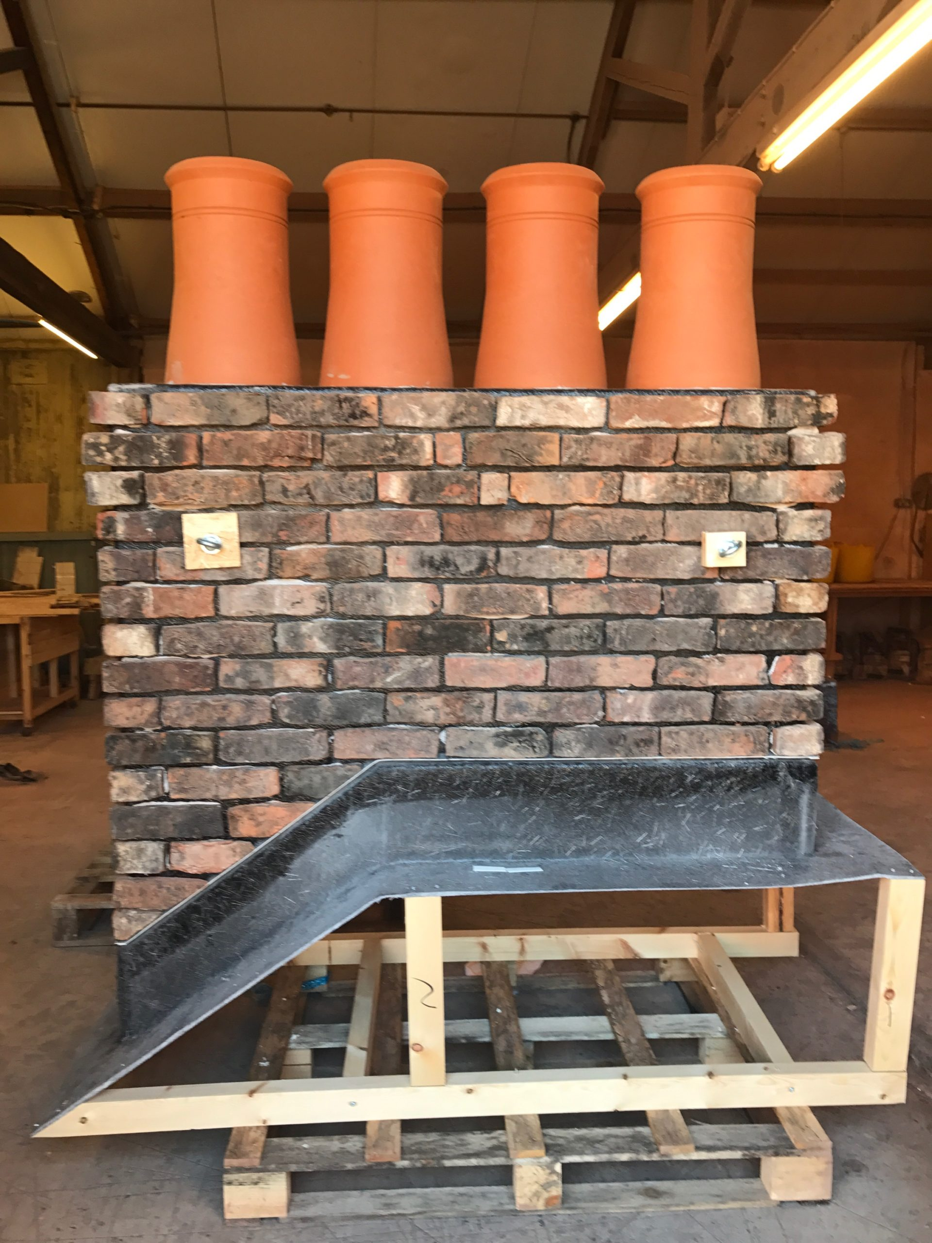 Prefabricated chimneys in production