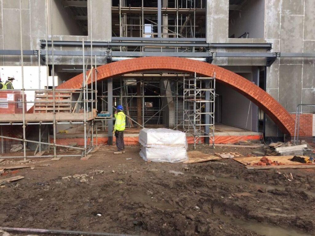 Lintel Arch Installation
