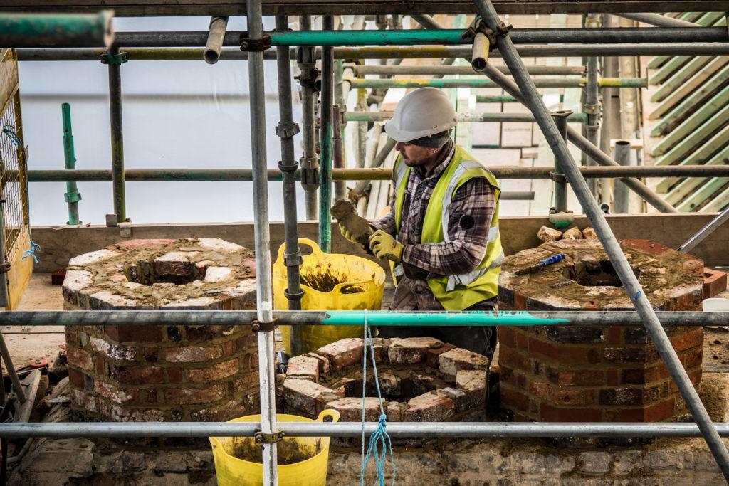 Chimney restoration work