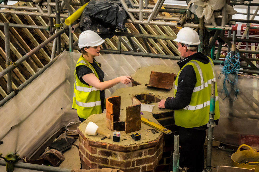 Rebuilding the chimneys with specials