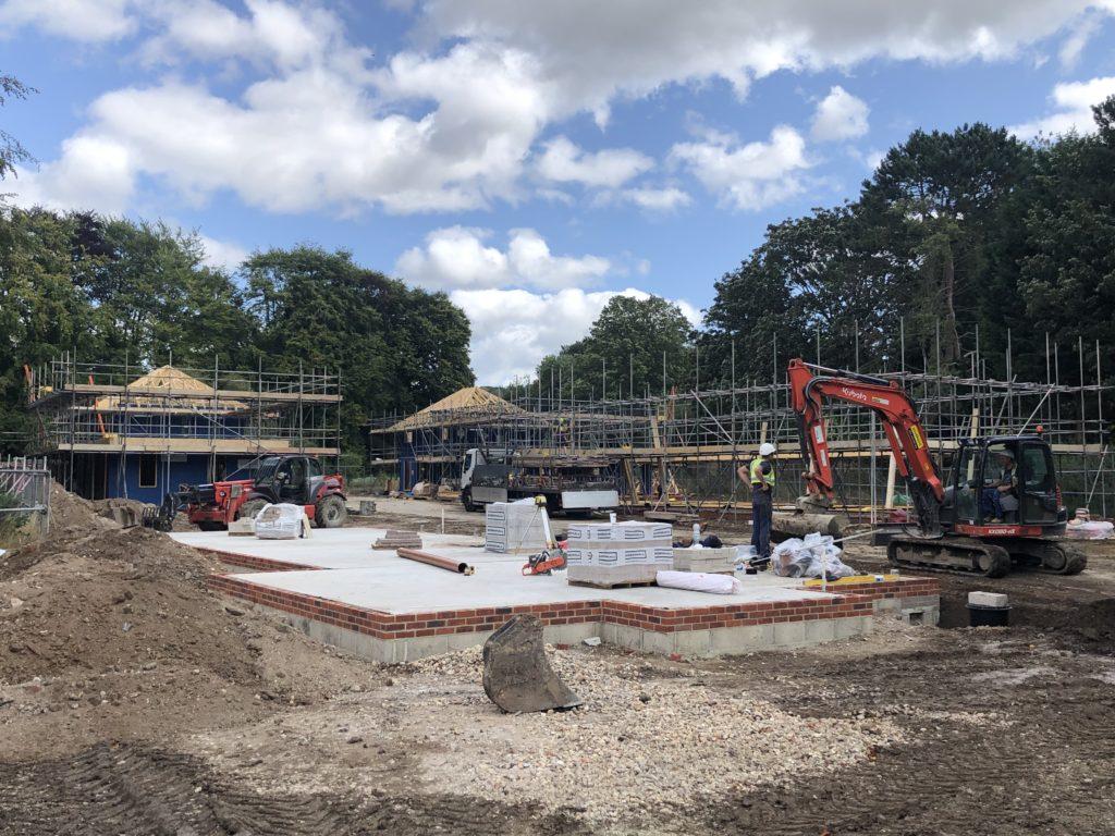 Goring development site going up