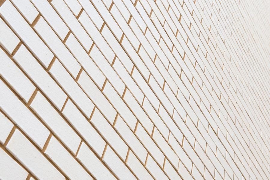 Porcelain white long format bricks