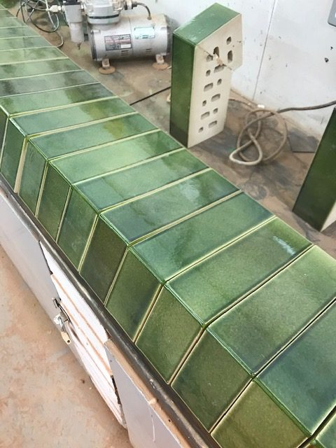 Cut and bond green tiles
