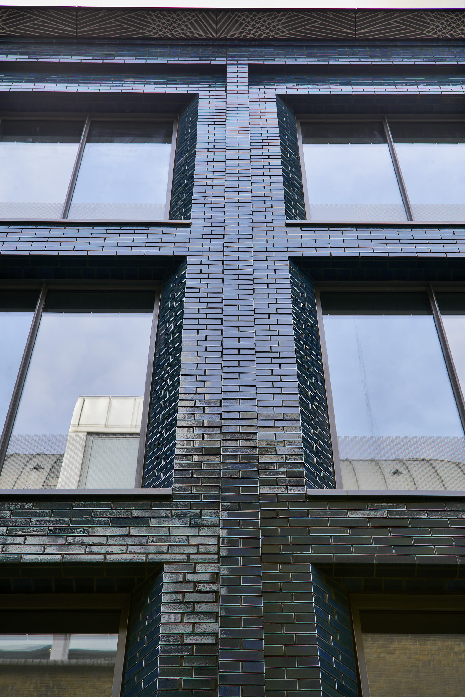 Glazed brick wall black contemporary