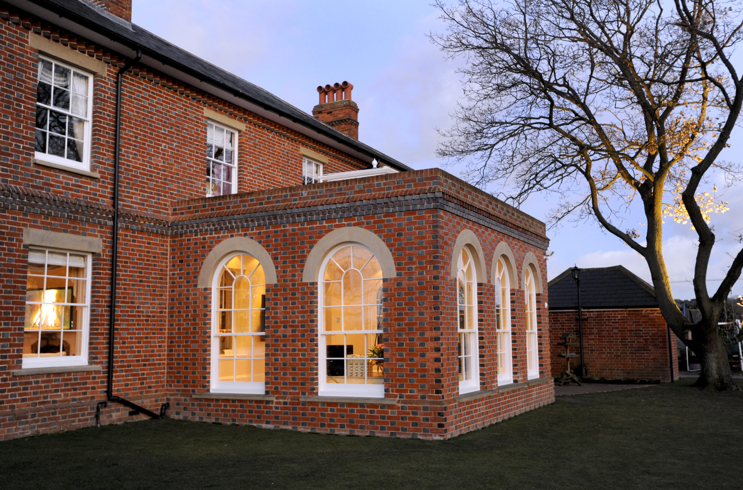 Handmade facing bricks with traditional glazed headers