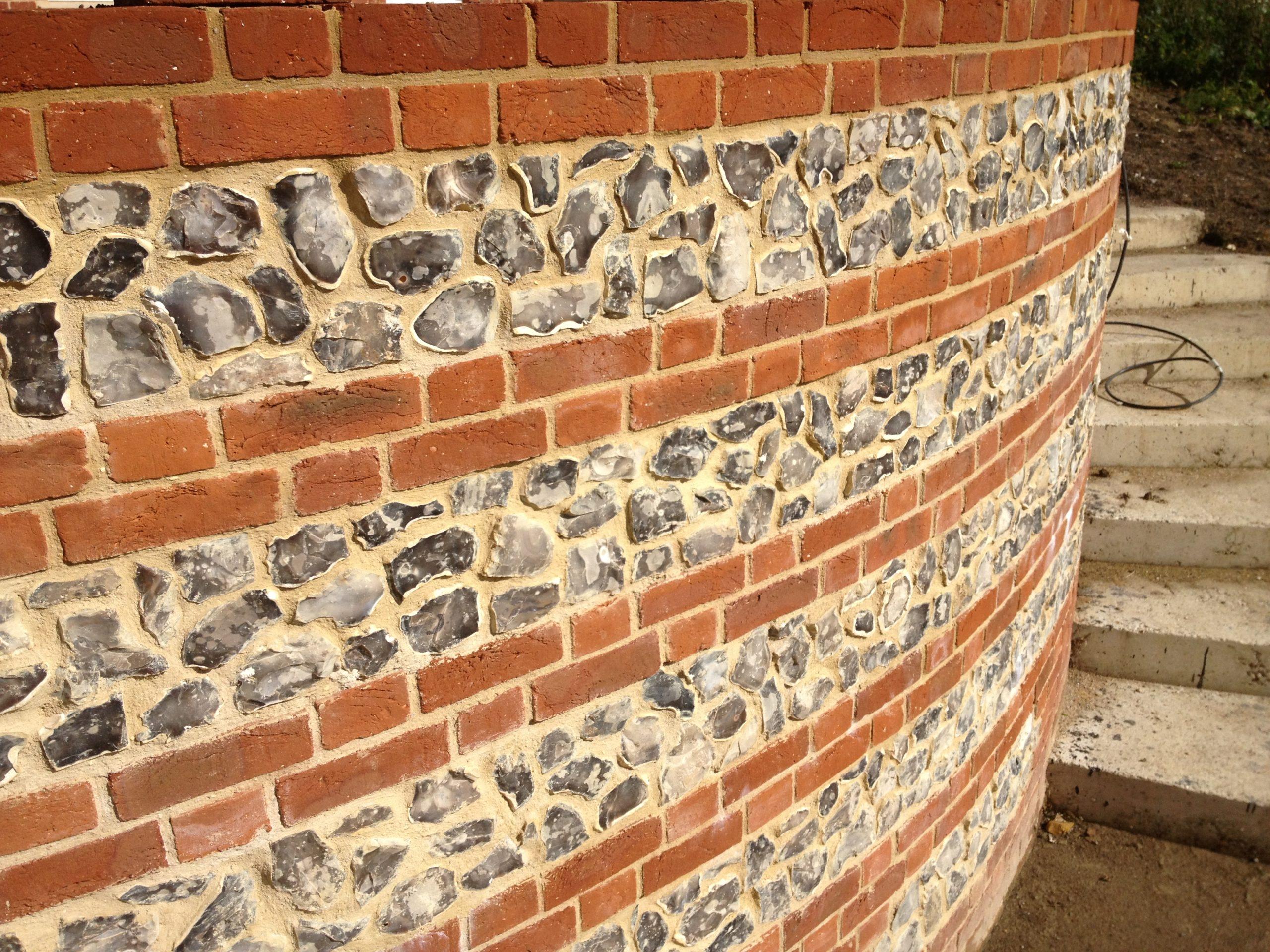 Loose flint wall