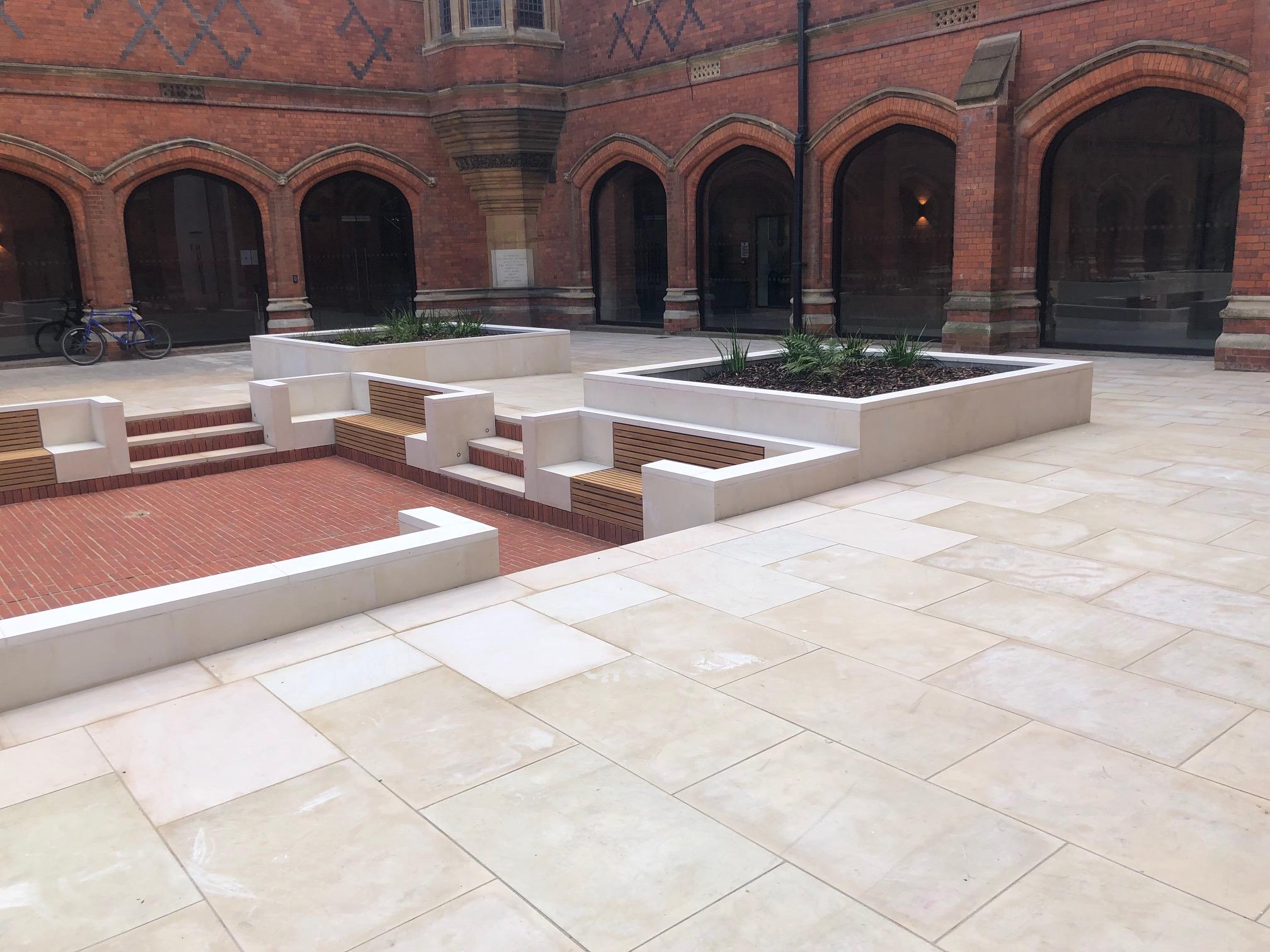 Natural stone paving Eton College