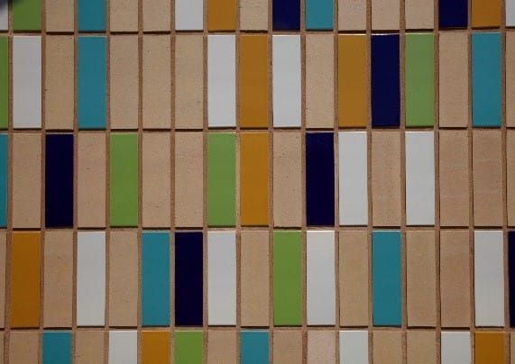 Multi glazed bricks