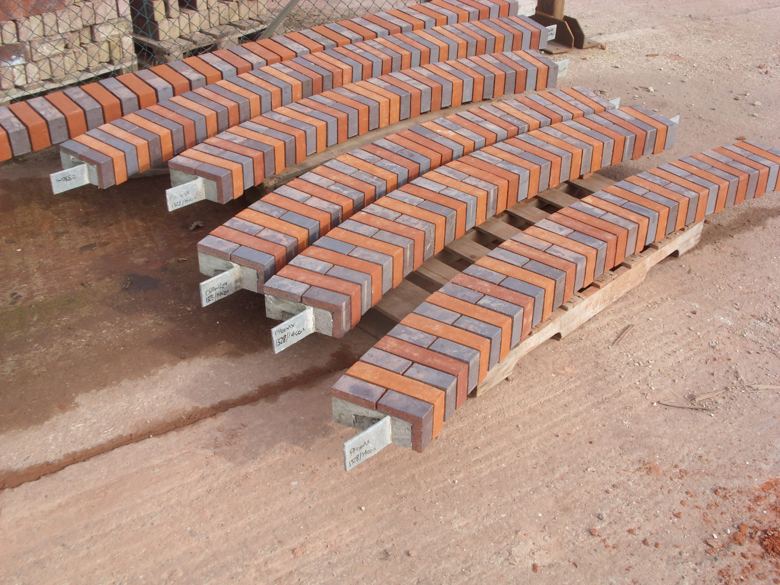 Prefabricated arches in production