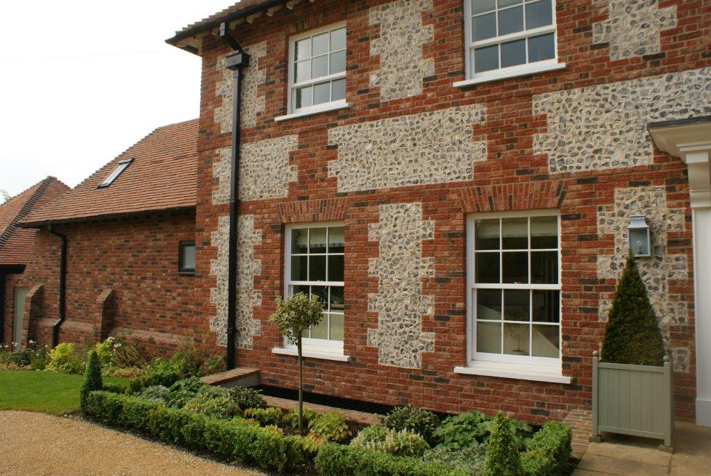 Country house, flint wall