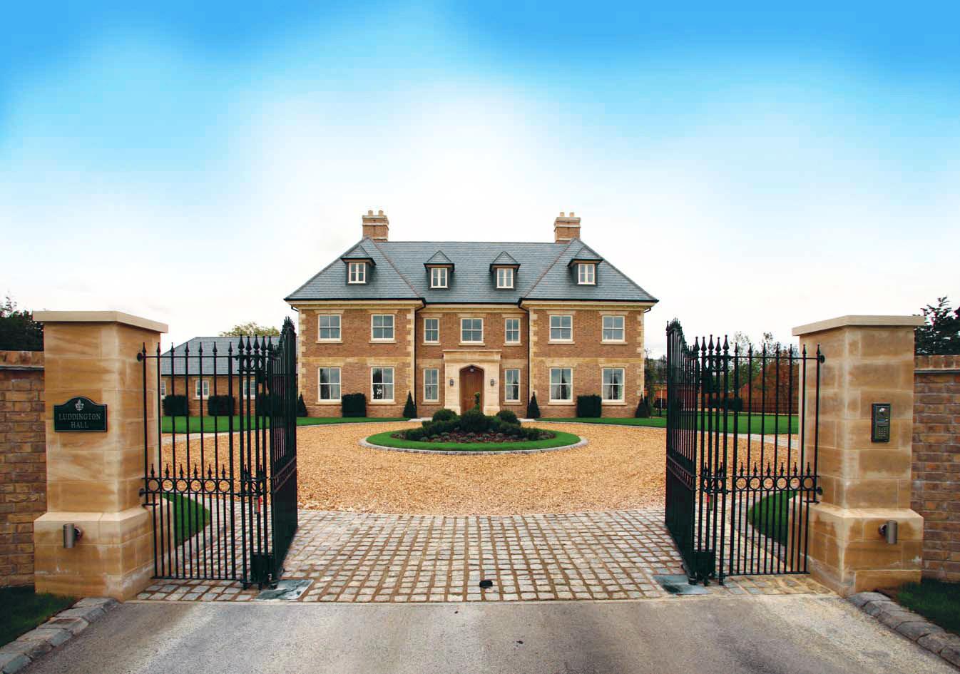 Traditional brown brick, bespoke home