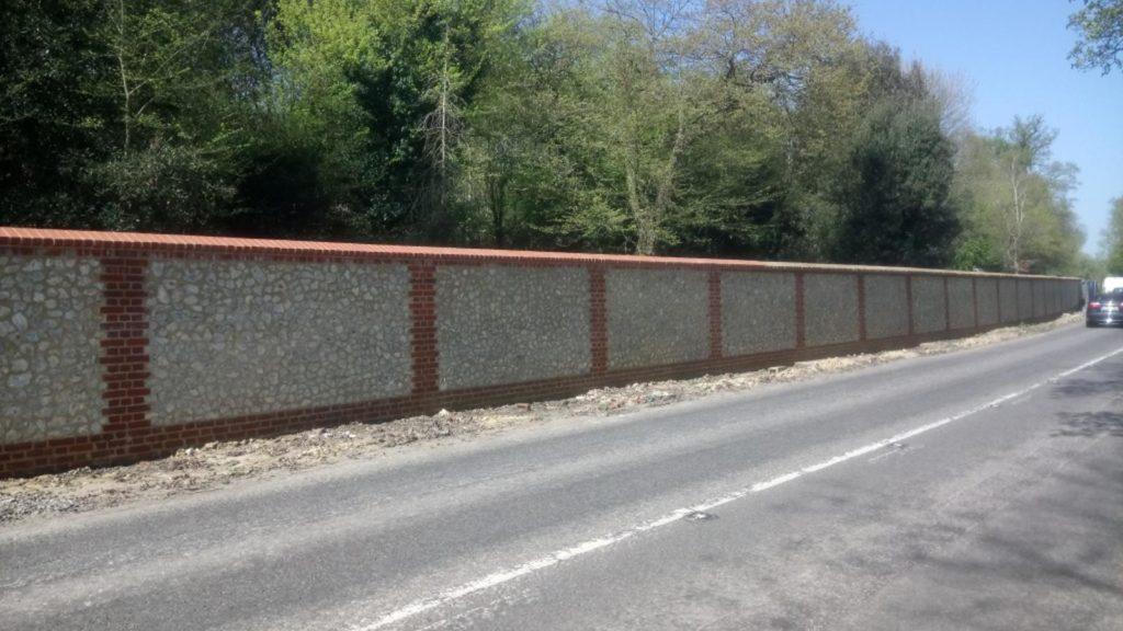 Basildon Park Wall Flint