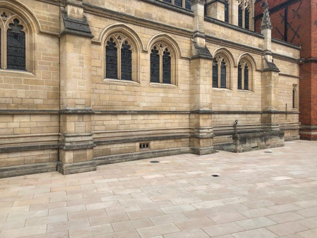 Eton College natural stone paving