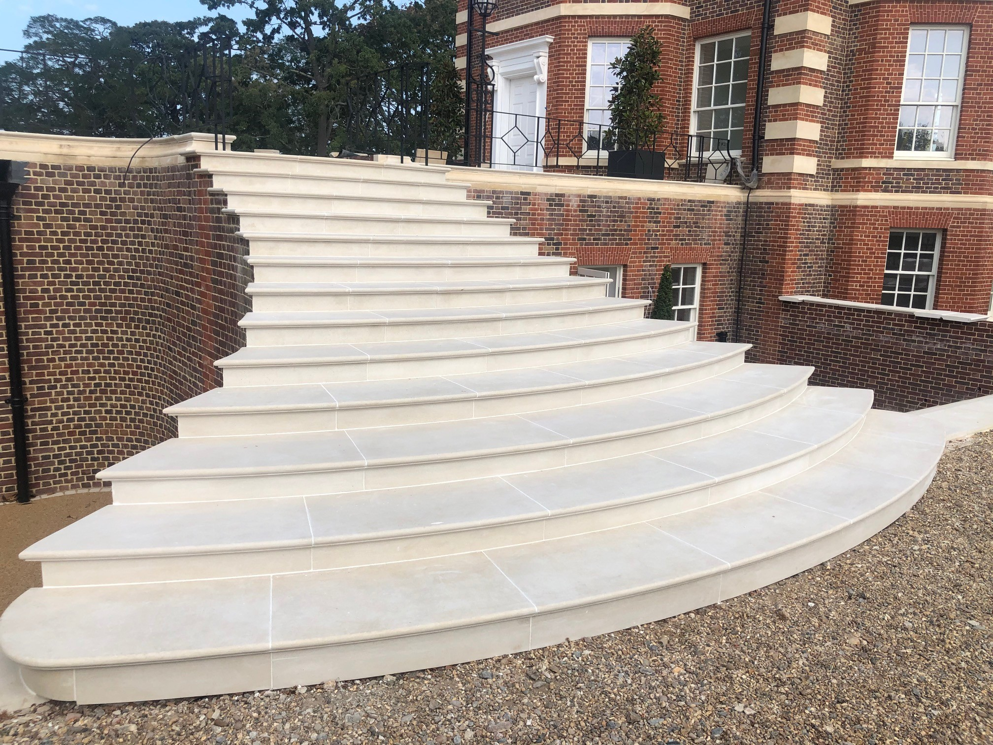 Natural stone paved steps