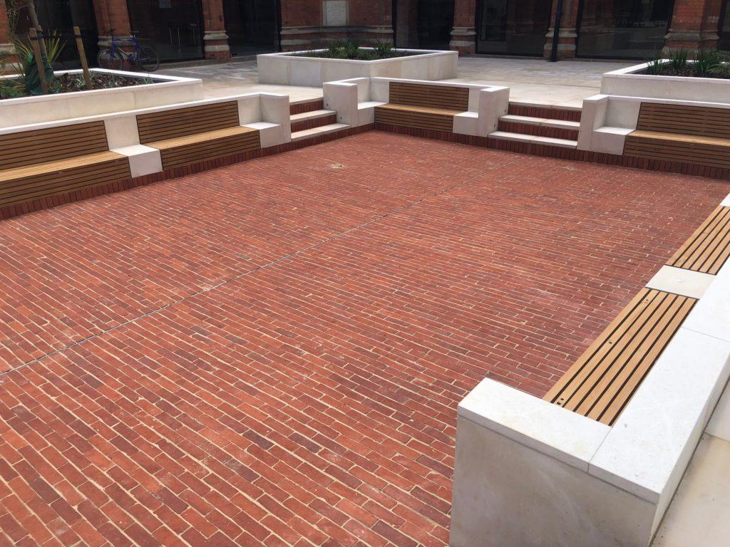 Eton College Courtyard Brick Paving
