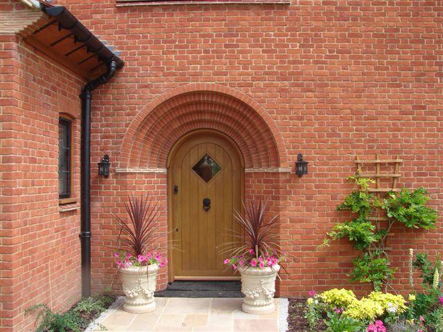 Brick arch front entrance