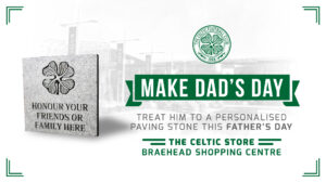 personalised paving stone at the Celtic Store Braehead Glasgow