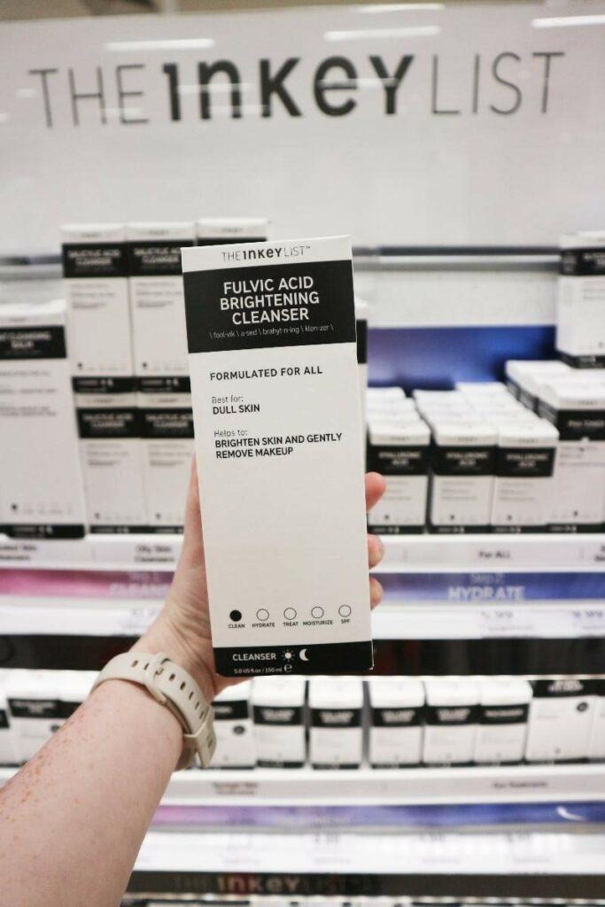 Inkey list fulvic acid brightening cleanser product