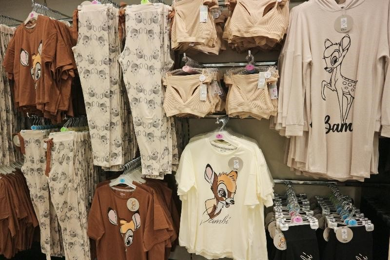 Bambi printed clothes at Primark in Braehaed Glasgow