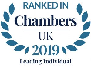 Trevor Coward ranked by Chambers & Partners 2019
