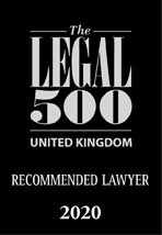 Legal 500 2020 recommended lawyer